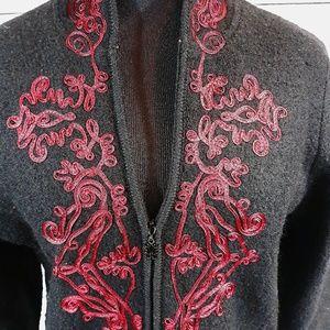 Coldwater Creek, wool jacket zipper front